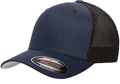 Flexfit/Yupoong Men's Stretch Mesh Cap, Navy, One Size fits - Size Hat 55