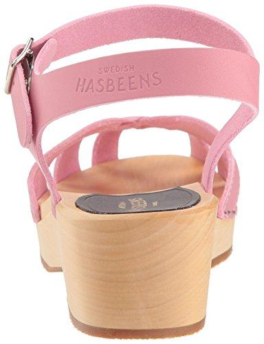 Heels Swedish Women'sWedge Cross Debutant Gum Sandals Hasbeens Pink Strap Bubble rwXgrP