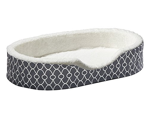 Orthoperdic Egg-Crate Nesting Pet Bed w/ Teflon Fabric Protector, XL Gray