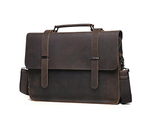 DJB/ Geschäftsmann Tasche Leder Herren poliert Schultertasche aus Leder Laptop Aktentasche Mann baodan