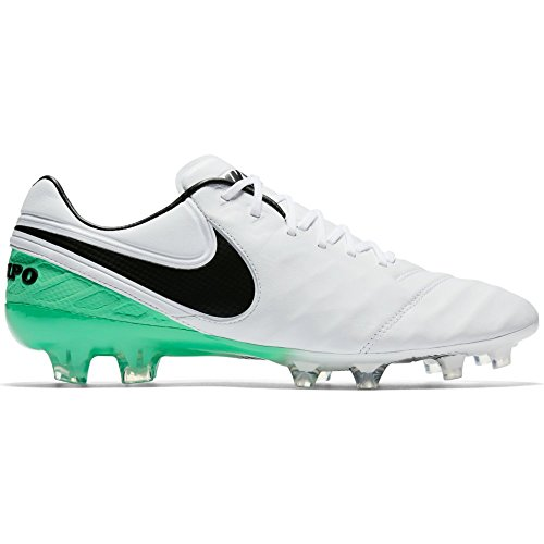 Nike Mens Tiempo Legend VI FG Soccer Cleat (Sz. 7.5) White, Electric Green - Nike Mens Tiempo Legend