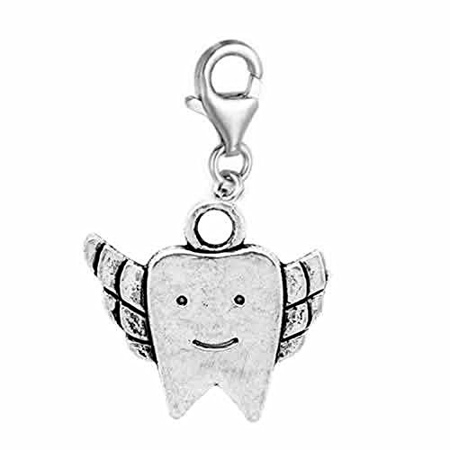 SEXY SPARKLES Tooth Fairy Charm Clip on for Bracelet Charm Pendant for European Charm Jewelry