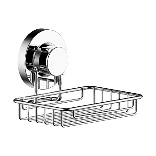 123 Dynamic Stainless Steel Rustproof Soap Dish Holder Basket - Super Strong Rotate & Lock Vacuum Suction Cup – Storage for Shower, Bathroom & Kitchen (5 Easy Halloween Nail Designs)