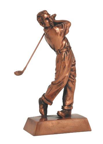 """U Bargain Mall 50% off-9"""" Copper Male Golfer Figurine"""