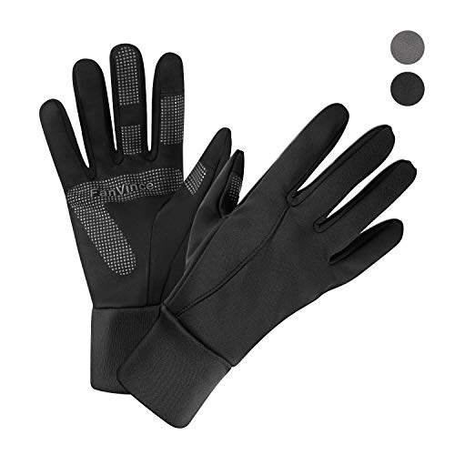Thermal Gloves Winter Insulated Glove with Touch Screen Fingers Windproof Water Resistant for Running/Cycling/Driving/Snow Skiing/Ice Fishing in Cold Weather for Men and Women (Medium, Black)