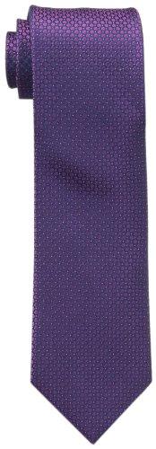 Berry Tie - Calvin Klein Men's Steel Micro Solid A Tie, Berry, Regular