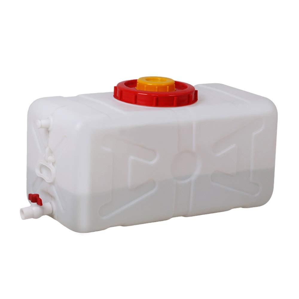 カバー付き家庭用大型水タンクプラスチック水平正方形水貯蔵タンク、バルブウォーターストレージタワー (Size : 80L)  80L
