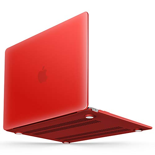 iBenzer Soft-Touch Series Plastic Hard Case for MacBook 12 inch with Retina Display Model A1534 (Newest Version 2017/2016/2015), Red by iBenzer