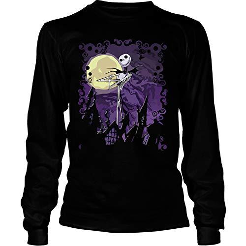 Pumpkin King T Shirt, Halloween Town T Shirt - Long Sleeve Tees (XL, Black) ()