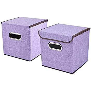 household essentials fabric storage boxes with lids and handles aqua set of 2. Black Bedroom Furniture Sets. Home Design Ideas