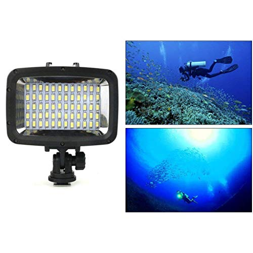 50m FairOnly 84 LED High Power Dimmable Waterproof LED Video Light Waterproof 164ft Underwater Lights Dive Light for Gopro Canon Nikon Pentax Panasonic Sony Samsung SLR Cameras