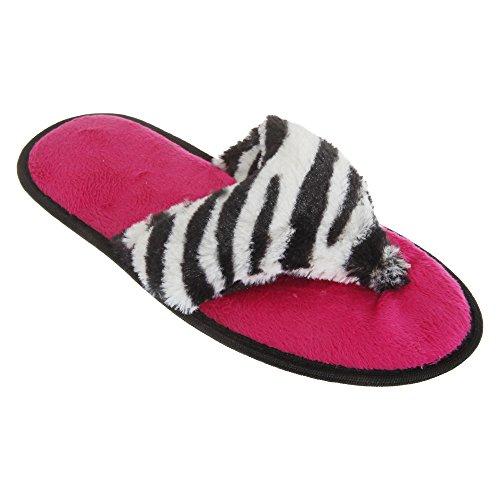 Slippers Flop Leopard Print Womens Post White Supersoft Ladies Flip Universal Toe Textiles Animal nRxvTzq