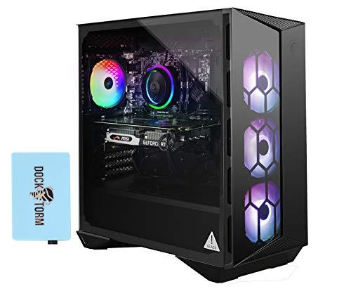 MSI Aegis R 10SC-017US Gaming and Entertainment Desktop PC (Intel i7-10700F 8-Core, 64GB RAM, 8TB PCIe SSD, NVIDIA RTX 2060 Super, WiFi, Bluetooth, 1xUSB 3.2, 1xHDMI, Win 10 Pro) with Hub