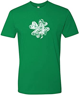 Panoware Men's Irish St Patricks Day T-Shirt | Distressed Shamrock
