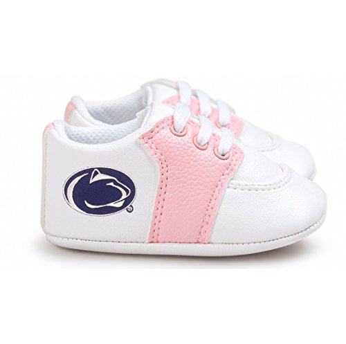 Future Tailgater Penn State Nittany Lions Pre-Walker Baby Shoes - Pink Trim