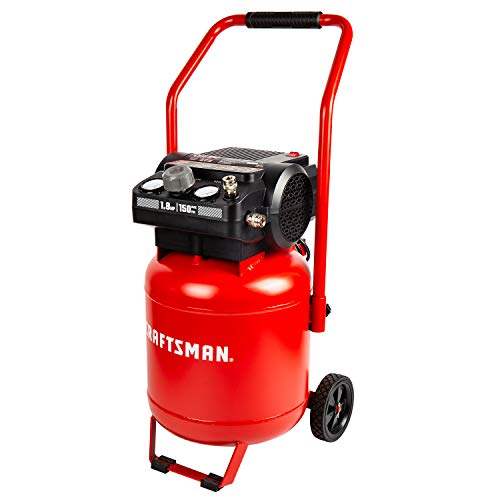 Craftsman Air Compressor, 10 Gallon 1.8 HP Max 150 PSI 4 CFM@90PSI Powerful Oil Free Maintenance Free Portable, Model: CMXECXA0331042