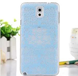 2015 Romantic Blue Floral Flower Lace Pattern PC Plastic Hard Case for Samsung Galaxy Note3 N9000