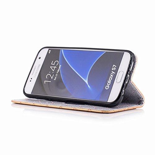 Yiizy Samsung Galaxy S7 / G930 / G930F / G930FD Funda, Amar Diseño Solapa Flip Billetera Carcasa Tapa Estuches Premium PU Cuero Cover Cáscara Bumper Protector Slim Piel Shell Case Stand Ranura para Ta