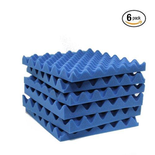 6 Pack Blue Eggcrate Acoustic Foam Sound Proof Foam Panels Noise Dampening Foam Studio Music Equipment 1.5
