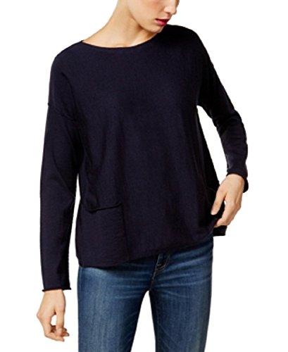 Eileen Fisher Petite Sweater - Eileen Fisher Merino Wool Sweater (Midnight, PM)
