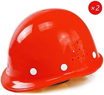 Yloty Conjunto de Casco de Seguridad Rojo FRP, Forro de 4 Puntos ...
