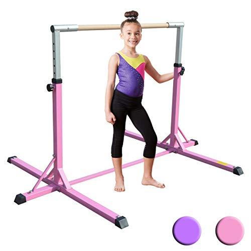 XTEK Gym Pro Gymnastics Bar - Adjustable Height Kip Bar with Added Stability, Premium Gymnastics Equipment for Home Training (Best At Home Gymnastics Mat)