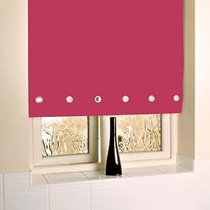 Cortinas con ojales cromado estor enrollable 60 cm rosa