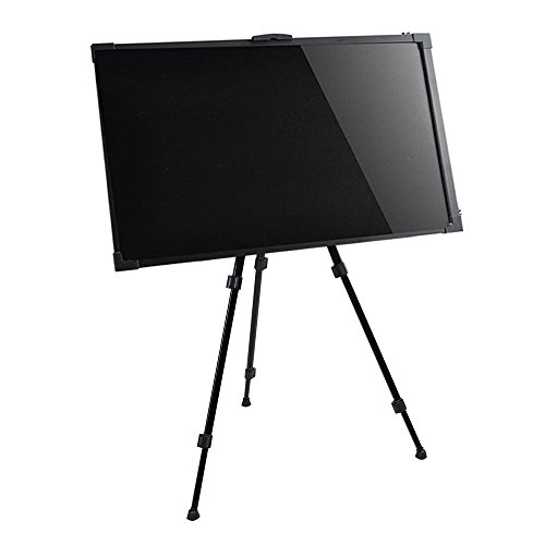 FixtureDisplays Flashing Illuminated Erasable Neon LED Message Menu Sign Writing Board + Height Adjustable Easel 14750+14752-NF by FixtureDisplays