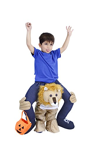 Costume Agent Men's Piggyback Lion Ride-On Costume, Lion, Youth