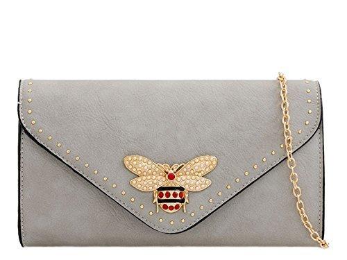 Ladies Bag Haute Clutch For Grey Lemon Diva Insect qRR6EwnB8