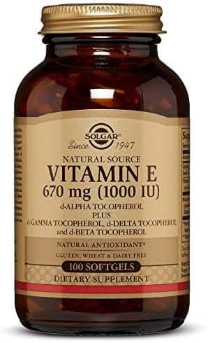 Vitamin E 670 MG (1000 IU) Mixed Softgels (d-Alpha Tocopherol & Mixed Tocopherols) - 100 Count