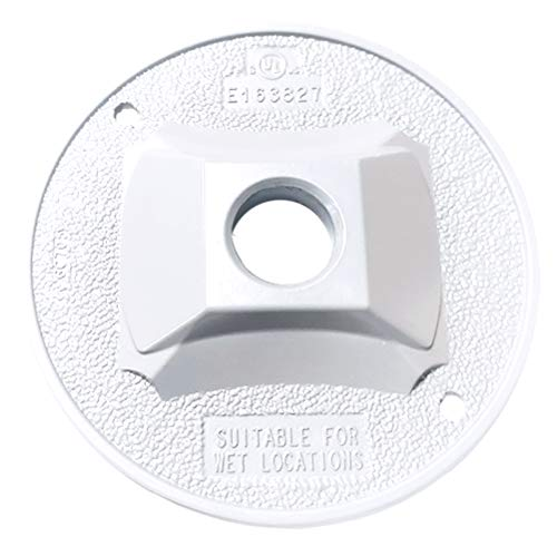 Sigma Electric 14381WH 1/2-Inch 1 Hole Round Lamp Holder Cover, White ()
