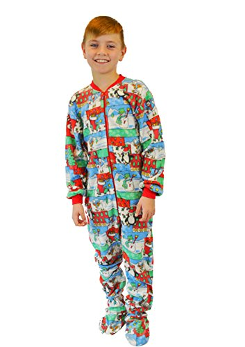 Big Feet PJs Kids Winter Fun Boys & Girls Footed Pajamas Onesie Sleeper