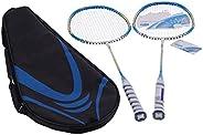 Raquetes de badminton para 2 jogadores, raquetes de badminton Raquetes de badminton em carbono total com fibra