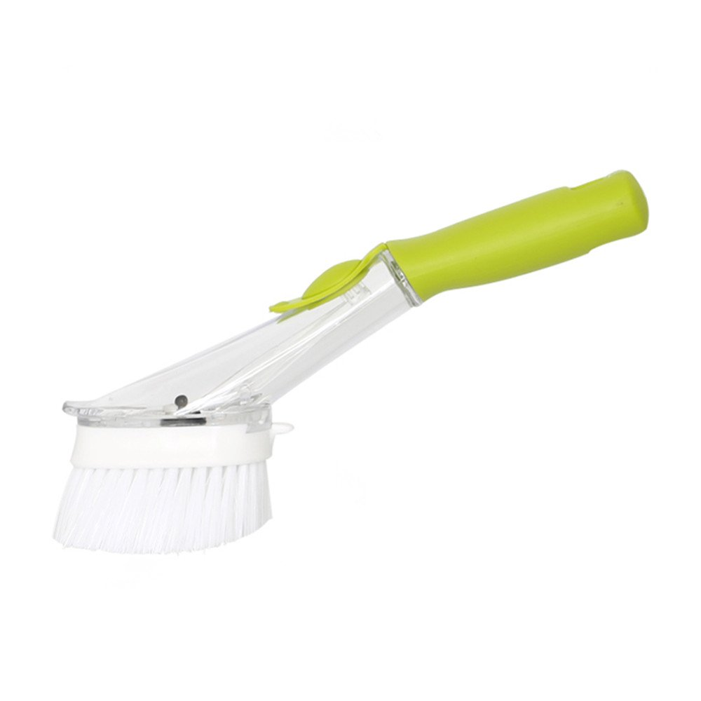 JEBBLAS Cleaning Brushes Grips Soap Dispensing Dish Brush&Sponge refill &2 Reusable Chamois/Shammy Kitchen Rags by Jebblas