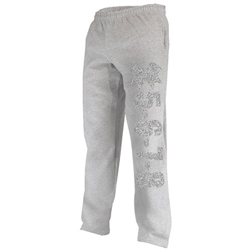 5-6-7-8 Sweatpants | Cheer Apparel by ChalkTalk SPORTS | Gray/Silver | Youth (All Sport Capri Apparel)