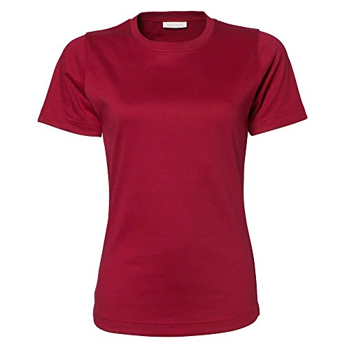 Tee Jays- Camiseta de manga corta para mujer Gris oscuro