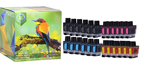 Ink Hero 24 Pack Ink Cartridges for Brother LC-41 DCP 110C 115C 120C 314CN Intellifax 1840C 1940CN 2440C MFC 210C 215C 3240C 3340CN 420CN 425CN 5440CN 5840CN 620CN 640CW 820CW (Lc41 Printer Cartridge)
