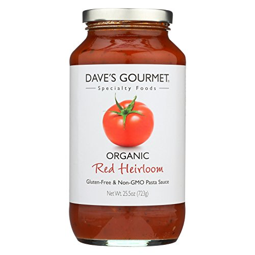 Organic Heirloom Tomato - Dave's Gourmet Organic Red Heirloom Pasta Sauce - Case of 6 - 25.5 FL oz.