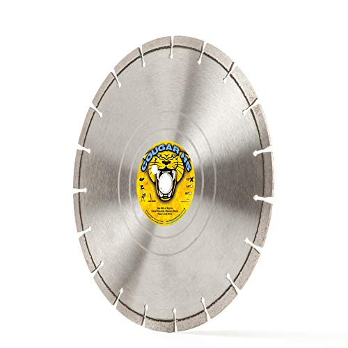 "Cougar HS 12-Inch (12"") X .125 X 1""-20MM Wet/Dry Diamond Blade for Concrete, Masonry, Stone, Pavers and Similar Materials"