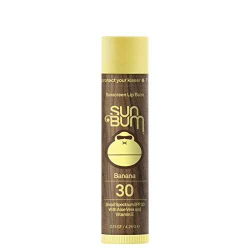 Sun Bum Sunscreen Lip Balm, Banana, SPF 30, .15oz Stick, Lip Sunscreen, Paraben Free