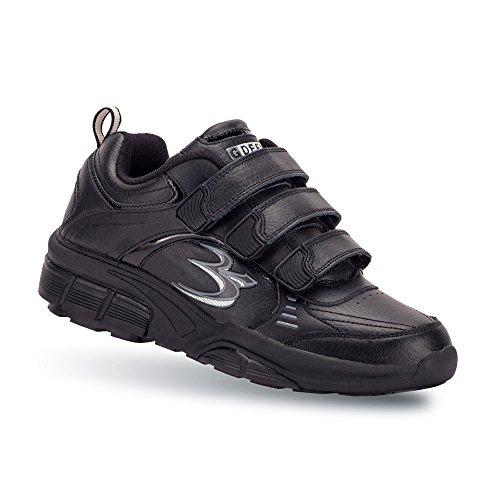 Gravity Defyer Women's G-Defy Extora Black Athletic Shoes 7 W US Comfortable Walking Shoes Orthotic Shoes Velcro (D&g Velcro Shoes)