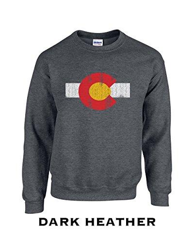 Colorado Crew Sweatshirt - 451 Colorado Flag Funny Adult Crew Sweatshirt