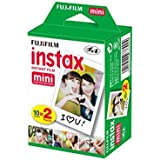 Fujifilm INSTAX Mini Instant Film 2 Pack = 20 Sheets (White) for Fujifilm Mini 8 & Mini 9 Cameras
