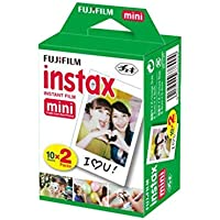 Fujifilm INSTAX Mini Instant Film 2 Pack = 20 Sheets (White) for Fujifilm Mini 8 & Mini 9…