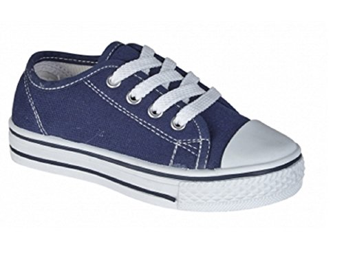 Koo-T - Zapatos de cordones de Lona para mujer Azul - azul marino