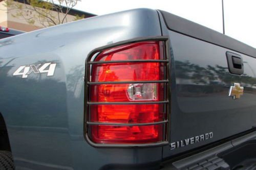 Steelcraft 30320 07-13 CHEVY SILVERADO (New Body Style) TAILLIGHT GUARD BLK Tail Light Guards