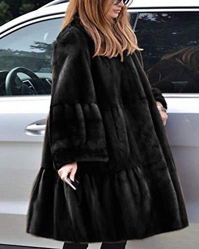 Longues Fourrure Cardigan El Femme Casual Hiver BIRAN Oversize Blouson Automne XU4qp