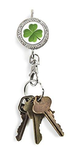 Alexx Finders Key Purse 01B-401 4 Leaf Clover Bling Finders Key Purse