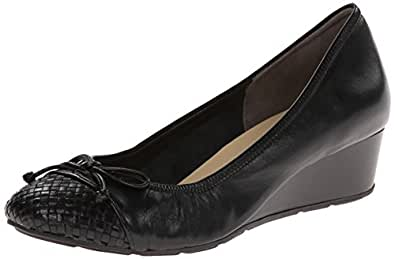 Cole Haan Women's Tali Lace WV CT Wedge Pump,Black/Black Weave,10 2A US